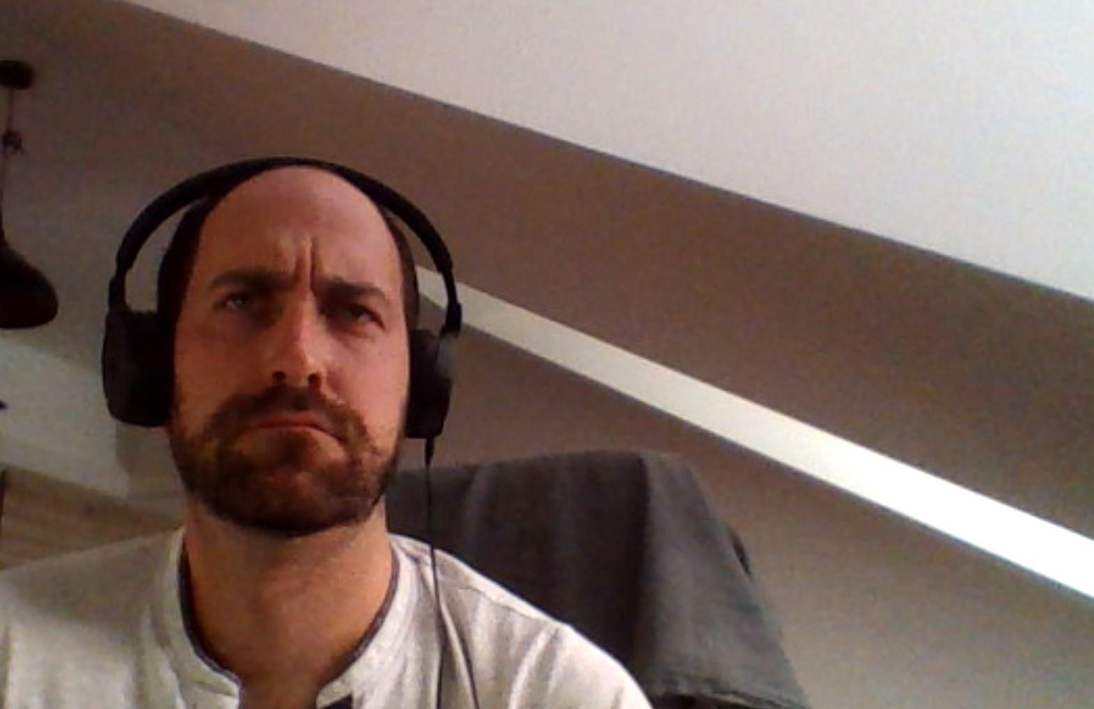 Volker Müller, Contexter bei einem Zoom-Videocall